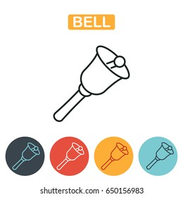 Bell Icon School Line Stock Illustration 663528619. Bell Icon School Line Isolated On White Background Education For Web. Wiring. School Bell Wire Diagram At Scoala.co