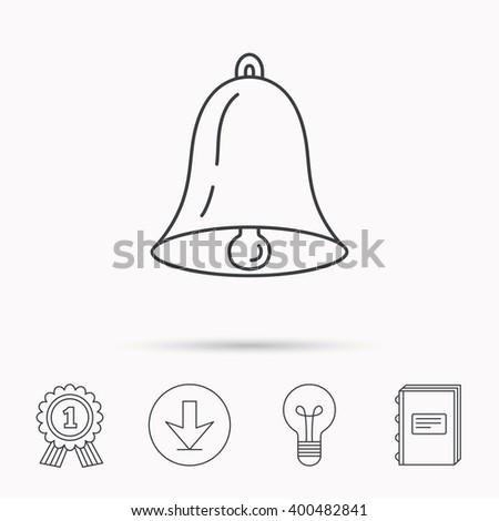 Bell Icon Sound Sign Alarm Handbell Stock Vector (Royalty Free