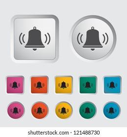 Bell icon. Vector illustration.