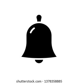 Bell Icon Vector Illustration in Glyph Style for Any Purpose