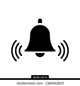 Bell Icon Vector Illustration Logo Template
