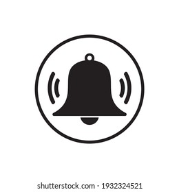 bell icon vector illustration sign