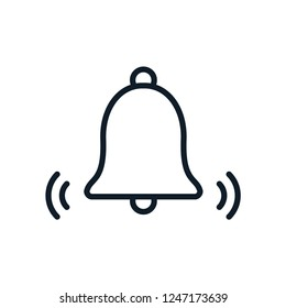 Bell icon vector logo template