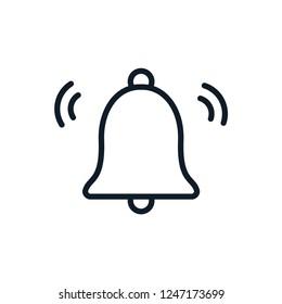 Bell icon vector logo template