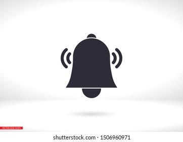 Bell icon vector. lorem ipsum Flat Design JPG