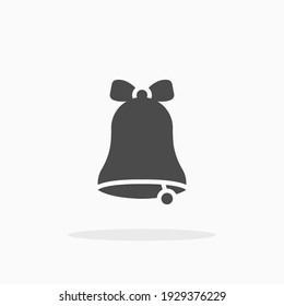 Bell icon. For your design, logo. Vector illustration.