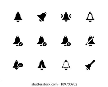 Bell icons on white background. Vector illustration.