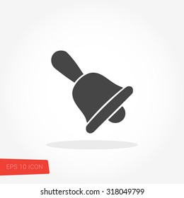 Bell Isolated Flat Web Mobile Icon / Vector / Sign / Symbol / Button / Element / Silhouette