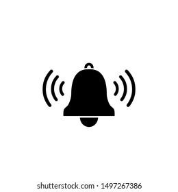 Bell linear vector iconon white