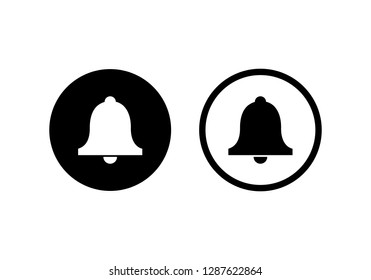 bell, notification icon symbols vector