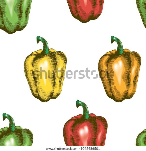 Bell pepper seamless