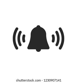 Bell ringing icon vector