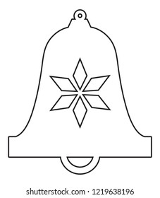 Bell Shaped Christmas Ornament