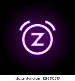 bell snooze icon. Elements of web in neon style icons. Simple icon for websites, web design, mobile app, info graphics