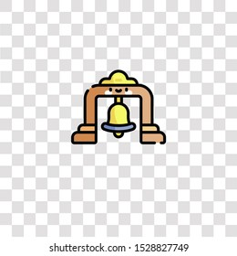 bell tower icon sign and symbol. bell tower color icon for website design and mobile app development. Simple Element from sailor collection for mobile concept and web apps icon.