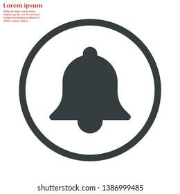 bell vector icon 10 eps , Lorem ipsum Flat design