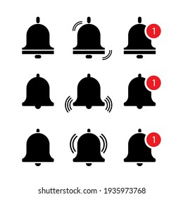 bells messages. Icon set. Phone icon, call icon, smartphone vector design. Stock image. EPS 10.