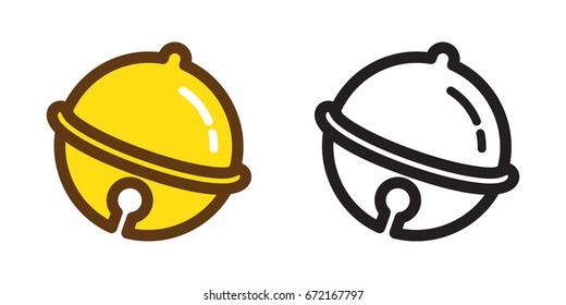 Bells ringing bell icon vector illustration cartoon doodle