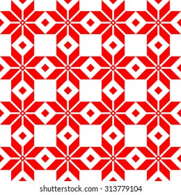 Belorussian Sacred Ethnic Ornament. Vector illustration. Slovenian Traditional Pattern. Seamless Background.