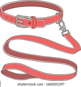belt collar and leash for dog