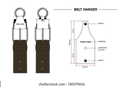 belt hanger drawing