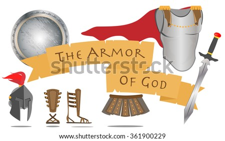 Belt Of Truth Breastplate Righteousness Fitted With The Readiness Shield Faith Helmet Salvation