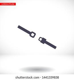 Belt Vector icon . Lorem Ipsum Illustration design