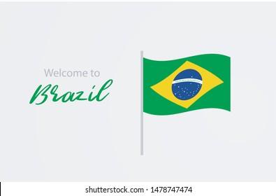 Bem vindo ao Brasil (welcome to Brazil in portuguese) vector illustration banner