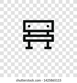 bench icon from miscellaneous collection for mobile concept and web apps icon. Transparent outline, thin line bench icon for website design and mobile, app development