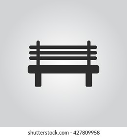 Bench icon vector
