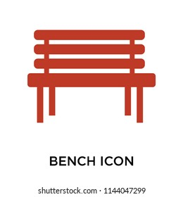 Bench icon vector isolated on white background for your web and mobile app design, Bench logo concept