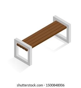 bench isometric 3d vector icon
