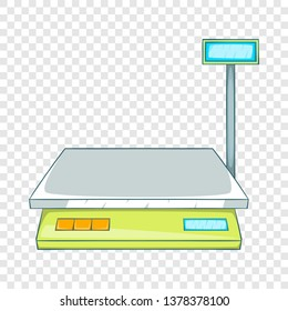 Bench scales icon. Cartoon illustration of bench scales vector icon for web