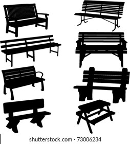 bench silhouette 2 - vector