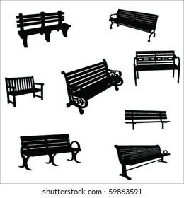 bench silhouette vector