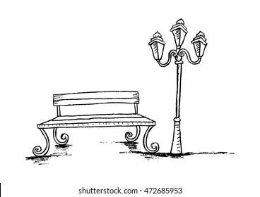 Prime 1000 Black And White Bench Stock Images Photos Vectors Machost Co Dining Chair Design Ideas Machostcouk
