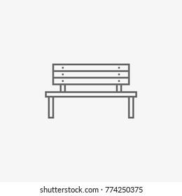 bench vector icon