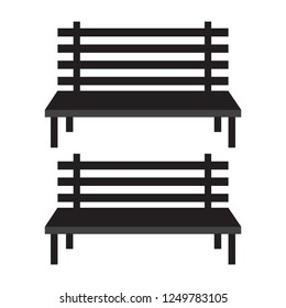 Benches icons. Bench street for city park and urban vector
