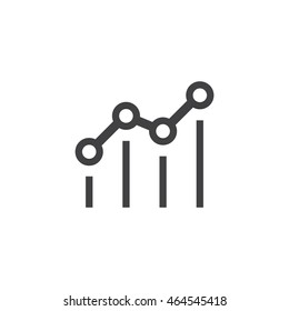 benchmark icon or button in flat style with long shadow, isolated vector illustration on transparent background