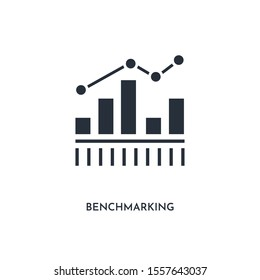 benchmarking icon. simple element illustration. isolated trendy filled benchmarking icon on white background. can be used for web, mobile, ui.