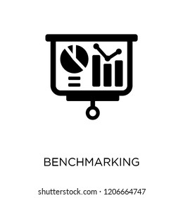 Benchmarking icon. Benchmarking symbol design from Time managemnet collection.