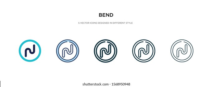 bend icon in different style vector illustration. two colored and black bend vector icons designed in filled, outline, line and stroke style can be used for web, mobile, ui