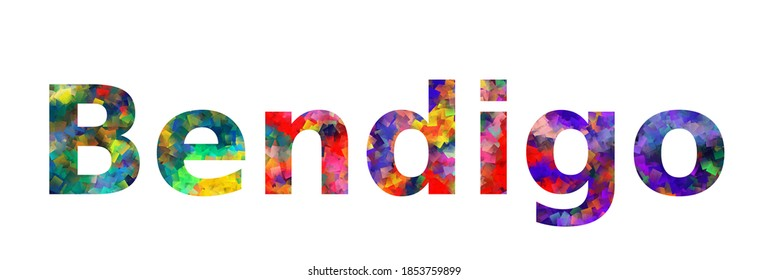 Bendigo. Colorful typography text banner. Vector the word bendigo design