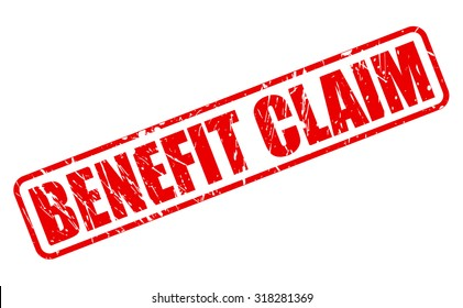 BENEFIT CLAIM red stamp text on white