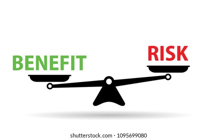 benefit and risk on scales