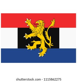 Benelux Union flag. Luxembourg, Netherlands and Belgium