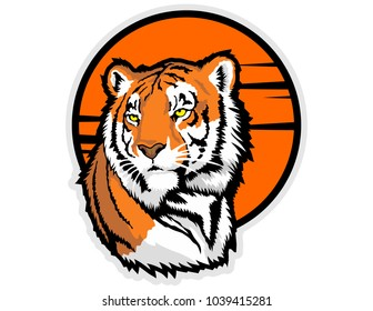 bengal tiger head mascot vector
