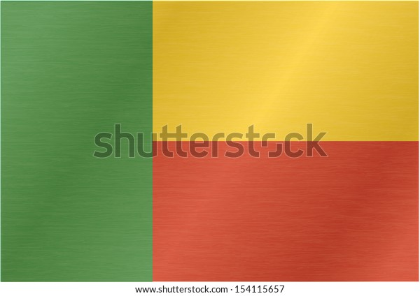 Benin flag with titles on the white background, vector illustration