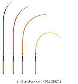 Bent Fishing Rod Images Stock Photos Vectors Shutterstock