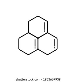 benzene icon vector illustration. chemistry line icon. isolated on white background